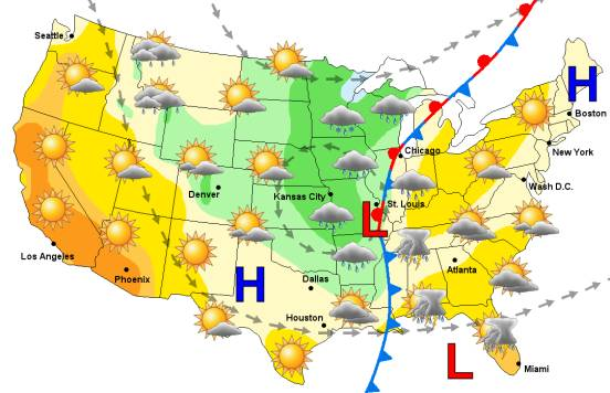 Traditional Weather Map.Ejs Weather